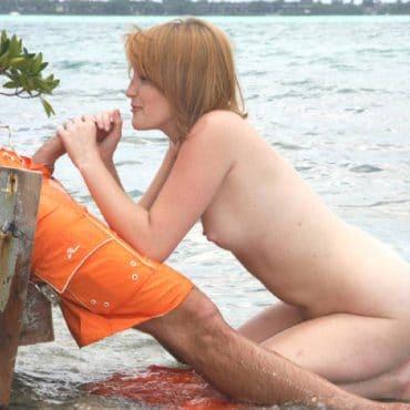 Strandsex versaut lutschen