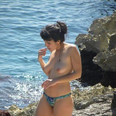 Voyeur Bilder am Meer