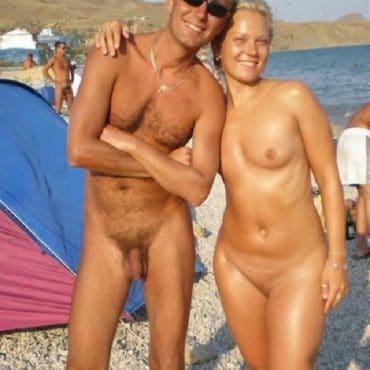 Komplett Nackt Strand