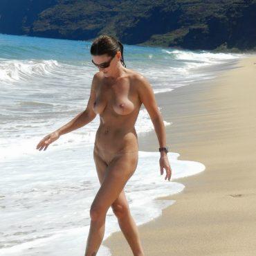 Muschi am Strand heimlich