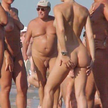Nackt Strand Menschen
