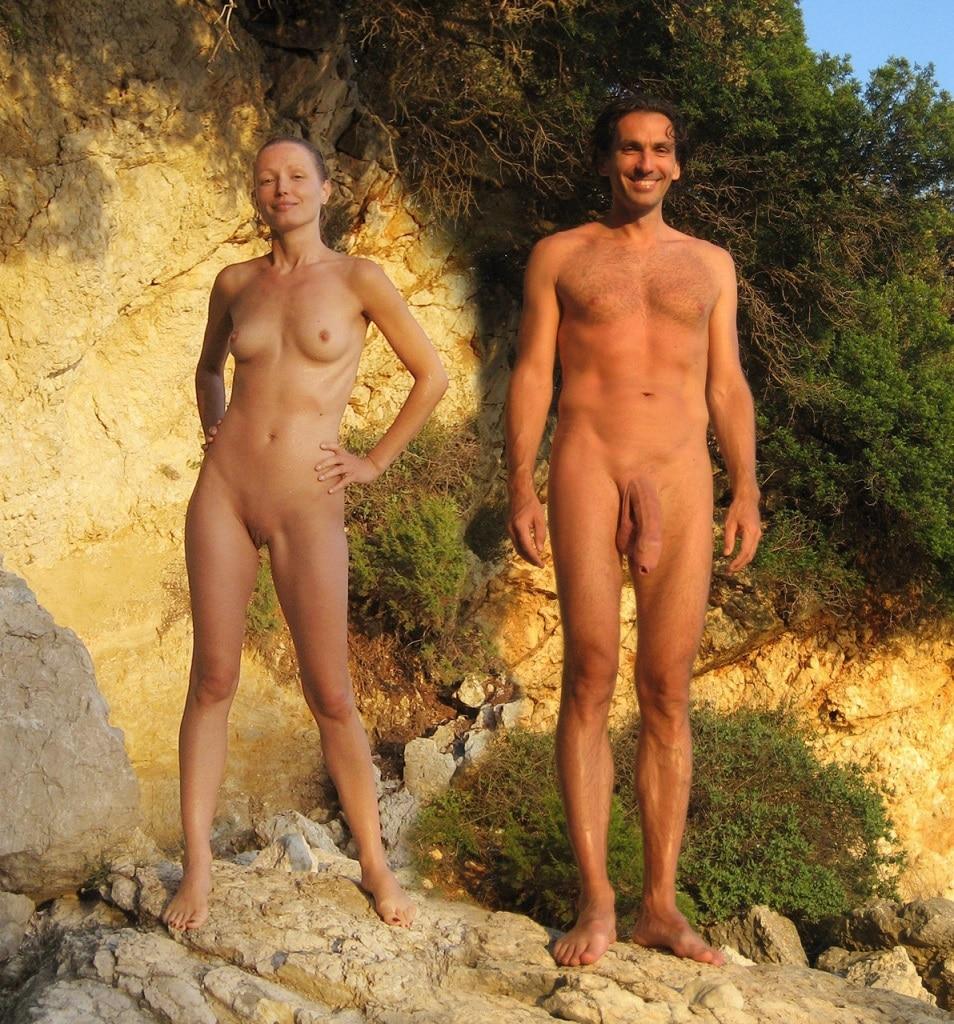 Mann Nackt Am Strand