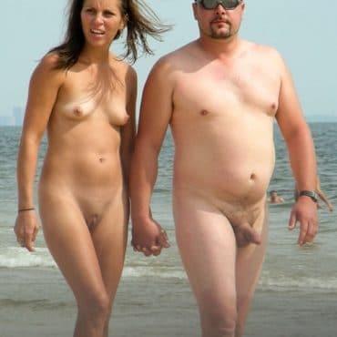 Pärchen Nackt am Strand