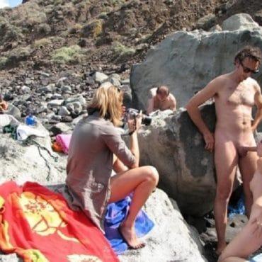 Heimlicher Strandsex