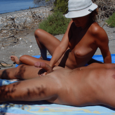 Strand Pornos Schwanz massage