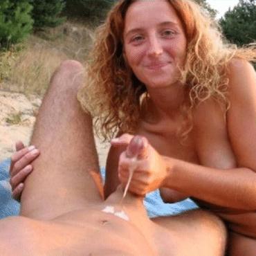 Strand Pornos abgewichst