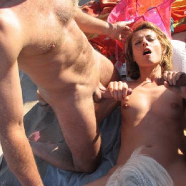 Strand Pornos zwei Pimmel