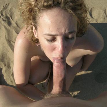 Milf Blasen am Strand