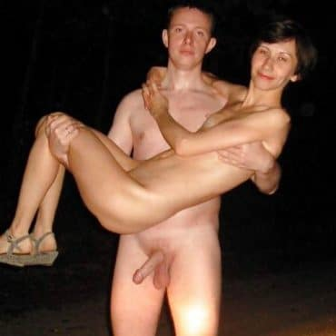 Nacktbadestrand Paar