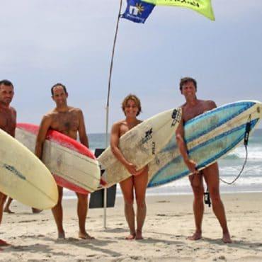 Nacktbadestrand Surfen