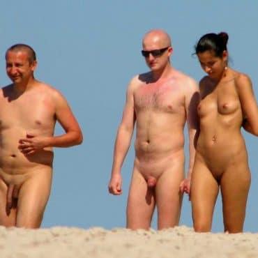 Nacktwandern Menschen