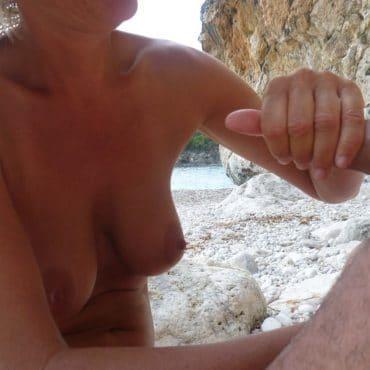 Swinger Strand einen runterholen