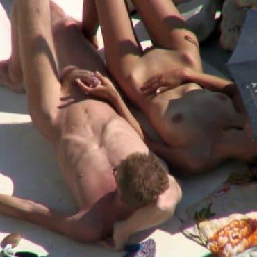 Swinger Strand erwischt