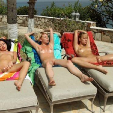 Heftige Frauen Spanner am Strand