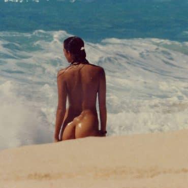 Spanner am Strand Arsch