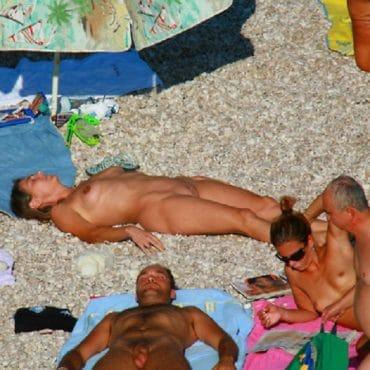 Spanner am Strand Foto