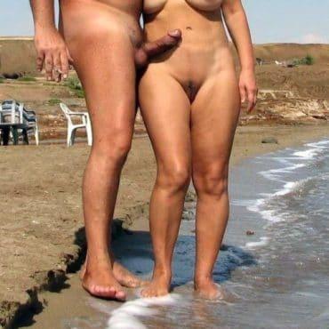 Spanner am Strand mit steifen