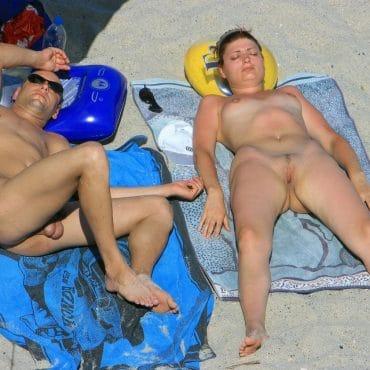 Tittenshow am sonnen