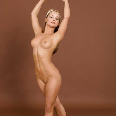 Sexy Nacktgymnastik