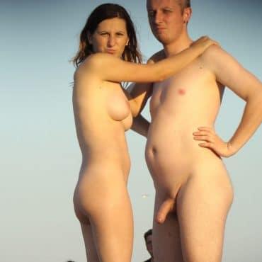 Junge Nackte Menschen