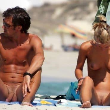 Paar Nackte Menschen