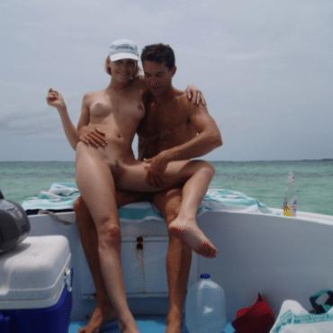 Süße Sex auf dem Boot