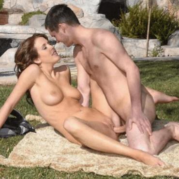 Camping Sex im Garten