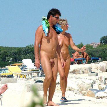 Geil Voyeur am Strand