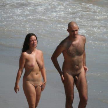 Heimlich Voyeur am Strand