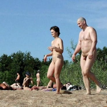 Voyeur am Strand gesehen