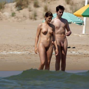 Voyeur am Strand haben Spaß