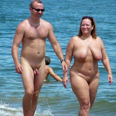 BBW Titten am Strand