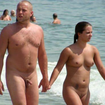 Milf Titten am Strand