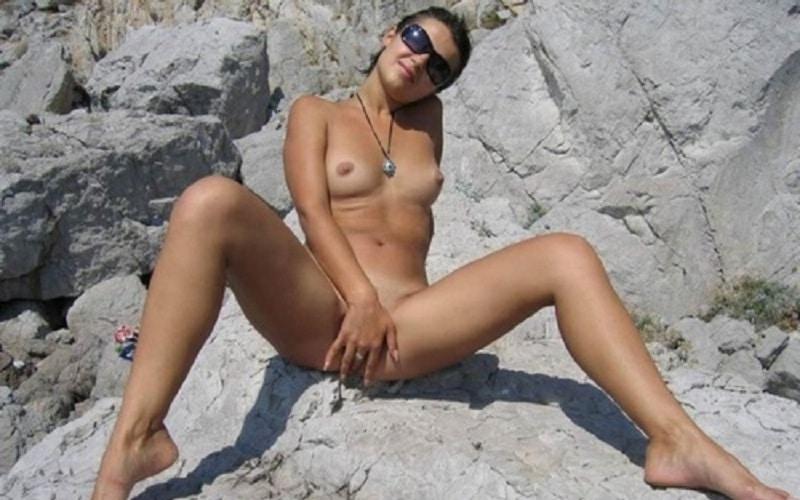 Nackt Am Fkk Strand