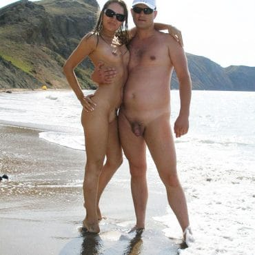 Nacktes Strand Voyeur