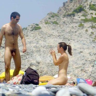 Strand Voyeur nackt