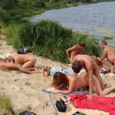 FKK Strand Sex mit Zuschauer