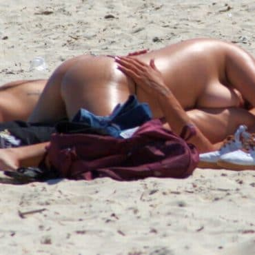 Bumsen am Strand erwischt