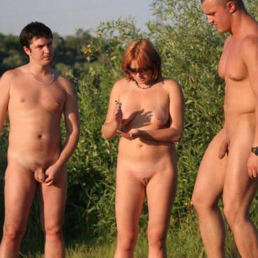 Dreier Sex im Wald