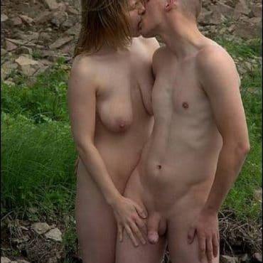 Paar Sex im Wald