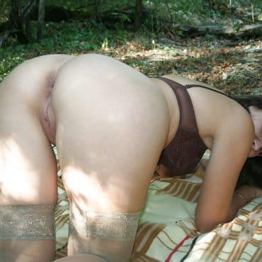 Russin Sex im Wald
