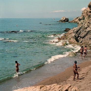 Nacktbaden im Meer