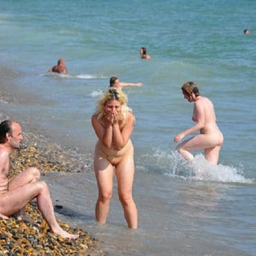 Pärchen Nacktbaden